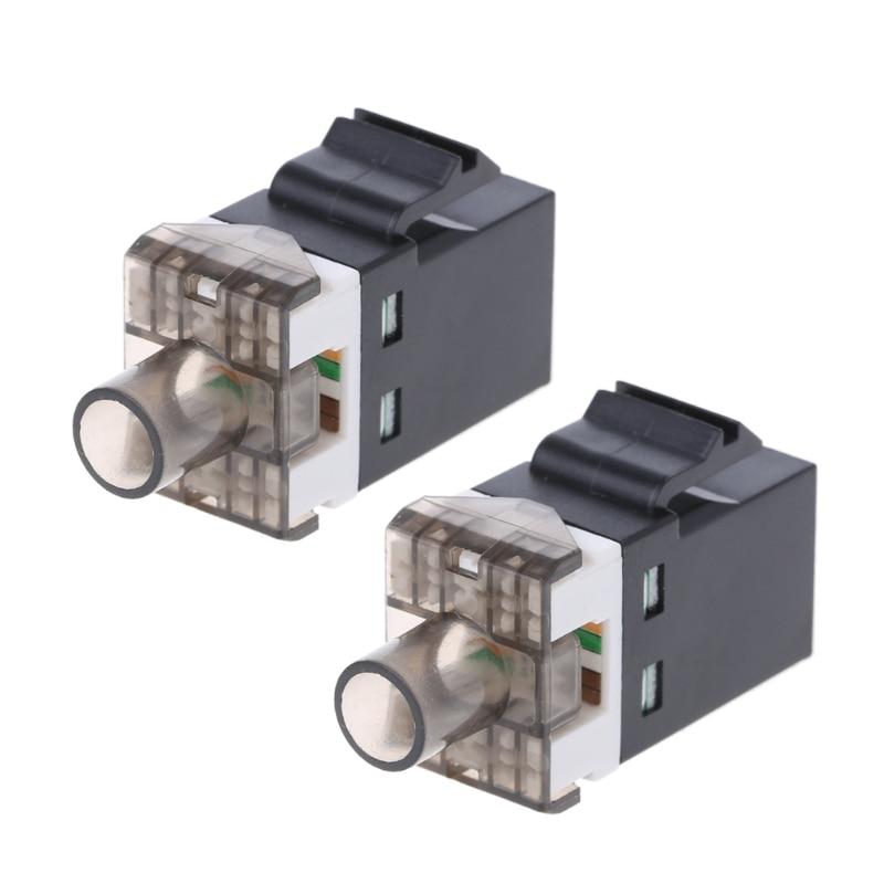 2Pcs UTP CAT6 Network Module RJ45 Connector Cable Adapter Keystone Jack