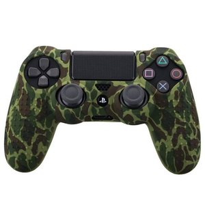 Image 2 - Camouflage Case Graffiti Studded Dots Silicone Rubber Gel Skin for Sony PS4 Slim/Pro Controller Cover Case for Dualshock4