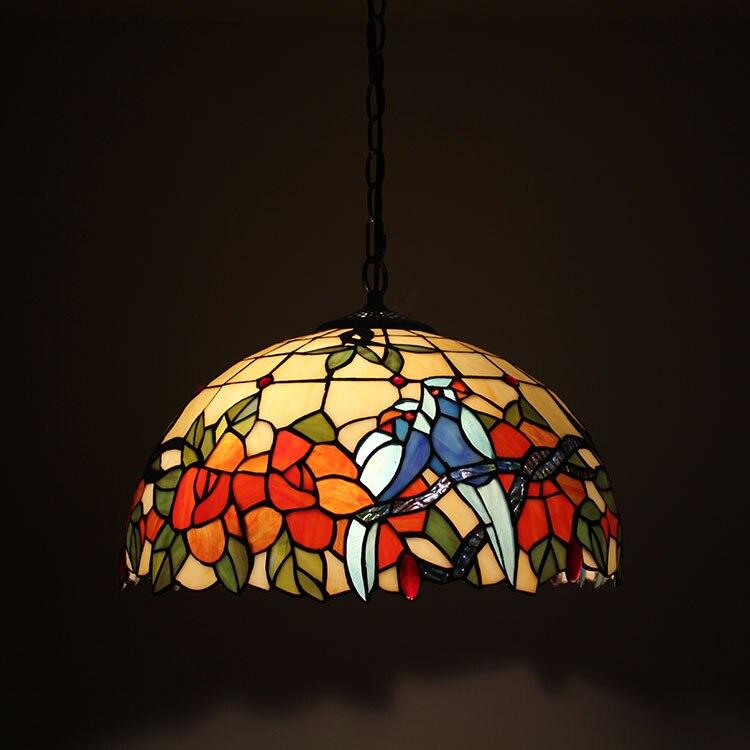 40 см Европейский ретро Тиффани Витражи ресторан люстра кафе бар салон красоты Прихожая American vintage свет
