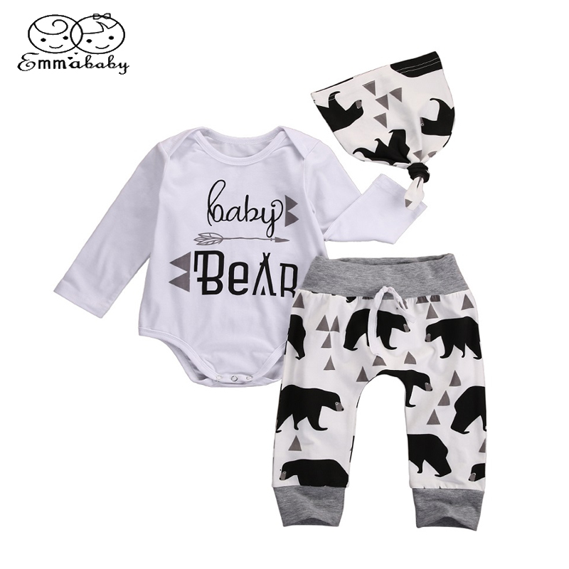 0b6f9ee34 Emmababy Autumn Baby Clothing Newborn Baby Girl Floral Clothes Jumpsuit  Romper +Black Rose Pants+Headband 3Pcs Outfit Clothing-in Clothing Sets  from Mother ...