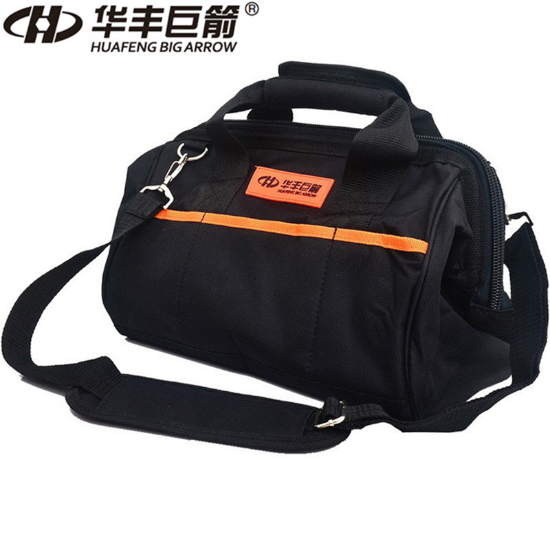 HUAFENG BIG ARROW 13 Inch Multifunction Tool Bag Wire Wrapped Waterproof Bag Shoulder Bag Hand Bag