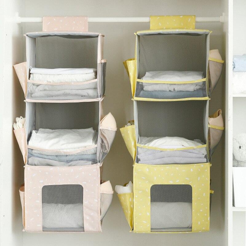 Non, Woven, Storage, Wardrobe, Hooking, Basket