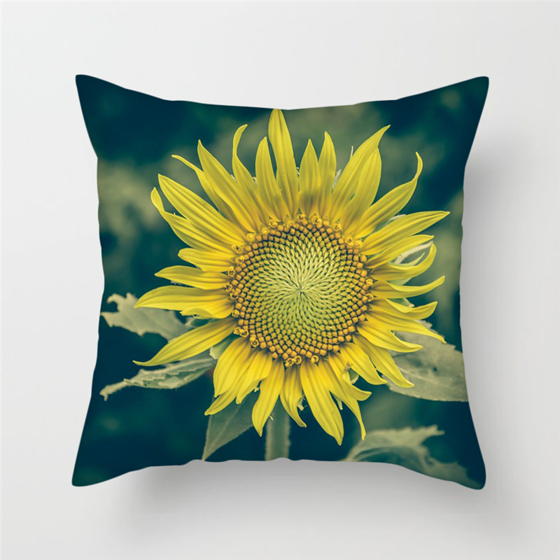 Fuwatacchi Scenic Animal Style Cushion Cover Heart Wing Sunflower Pillow Case Decoration Chair Sofa Home Rose Pillowcases New