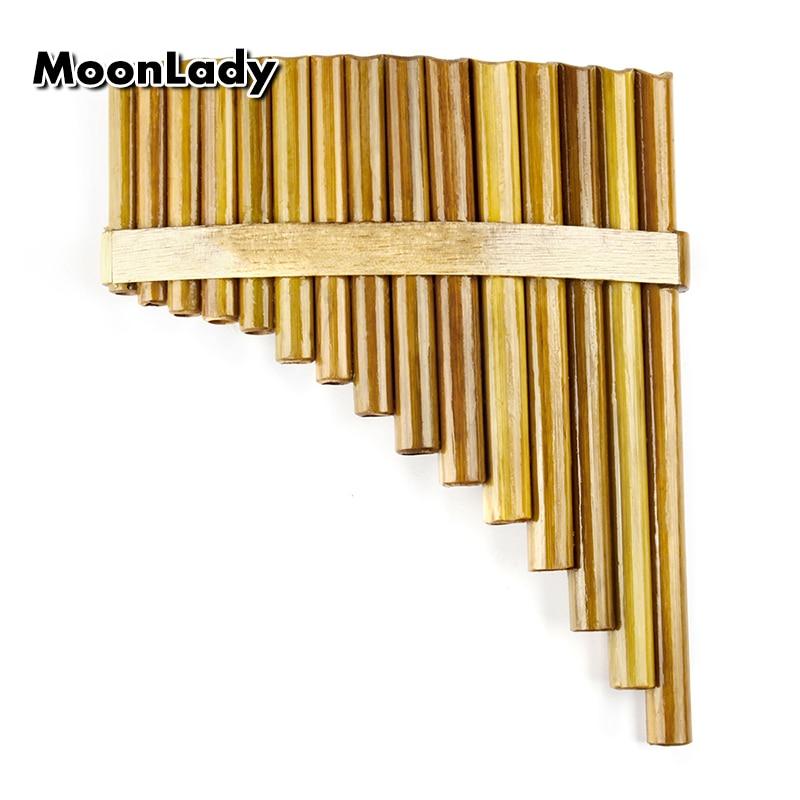 15 Pipes Natural Bamboo Chinese Folk Musical Instrument Pan Flute Wind Instrument Panpipes G Key Flauta