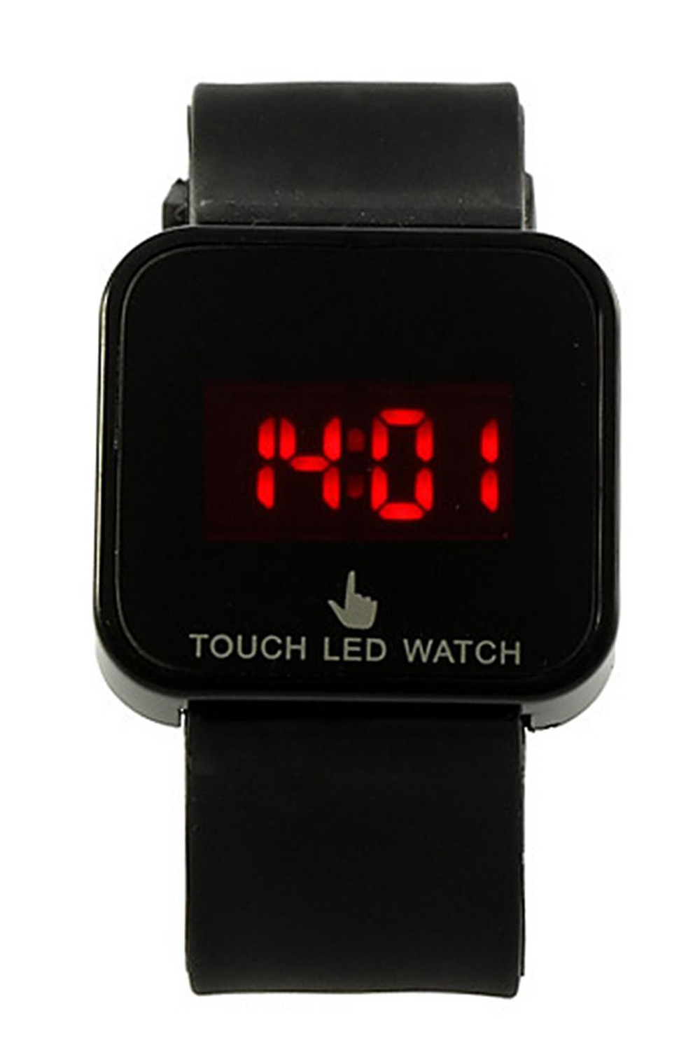 YCYS!Colorful Unisex LED Digital Touch Screen Silicone Wrist Watch Black
