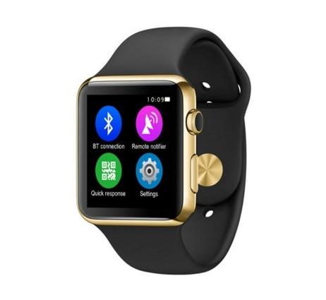 2 5D glass screen Bluetooth smart watch support Wireless charging WristWatch MTK Pedometer font b Smartwatch