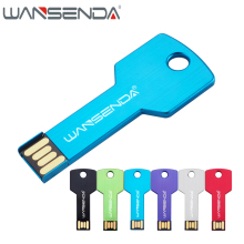 WANSENDA Metal Key 128GB usb flash drive waterproof pen drive 8GB 16GB 32GB 64GB pendrive usb 2.0 flash drive memory stick