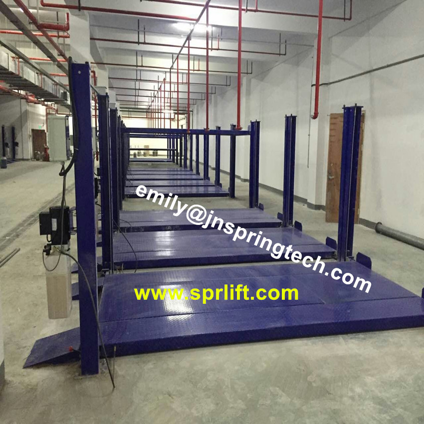 4 post double cars garage auto lifts electric hyraulic four post parking lift machine