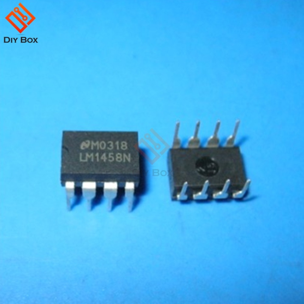 50PCS LM1458N DIP-8 LM1458 DUAL OPERATIONAL AMPLIFIER IC