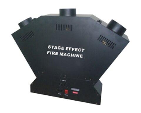 1 pc venda direta da fabrica projetor efeito stage spray fogo maquina chama tripla cabeca