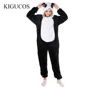 Image 2 - Kigucosオールインワン冬暖かいパジャマ漫画ユニコーンonesiesワンピーススパースターフード付きパジャマkugurumi動物パジャマ女性のための
