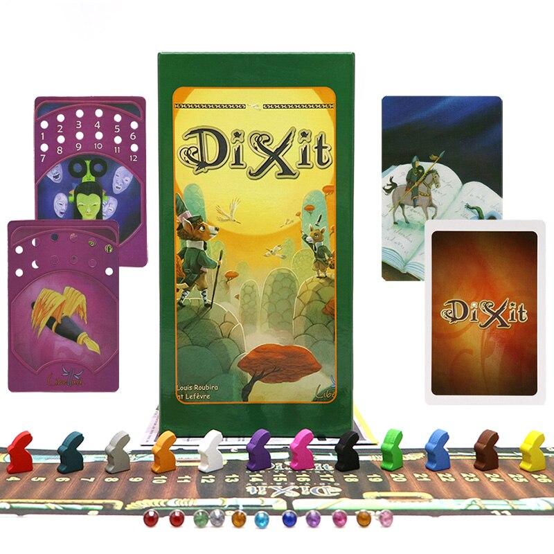 Полный английский вариант Диксит 1 2 3 4 5 6 7 Игра настольная развивающая детей игрушки для семейных мероприятий детская 12 игроков карты