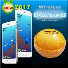 Inteligentny telefon Bezprzewodowy Sonar Fish Finder echosondy Głębokość Morza Jeziora Ryby Wykrywania findfish iOS Android App inteligentny sonar echosonda