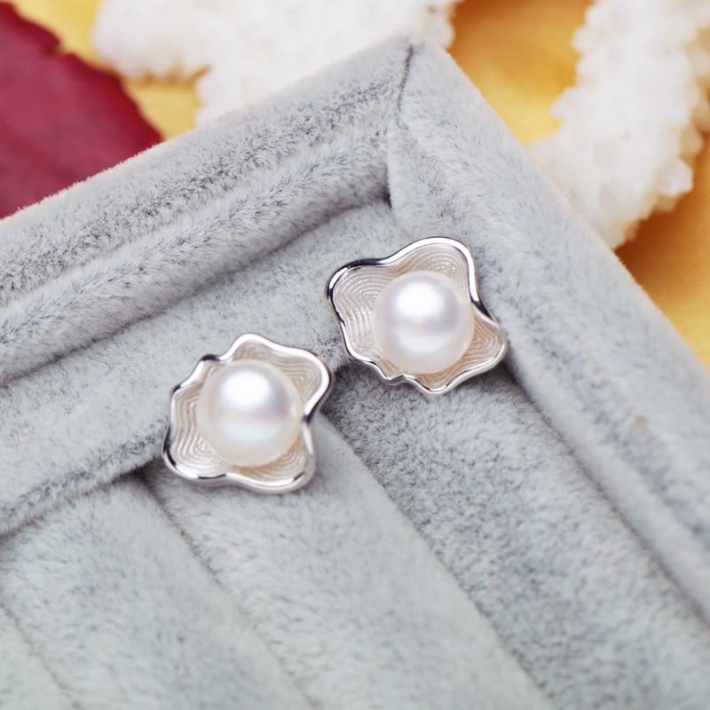 FENASY, modni Shell dizajn Biserne naušnice, biser sa 925 sterling - Fine nakit - Foto 3