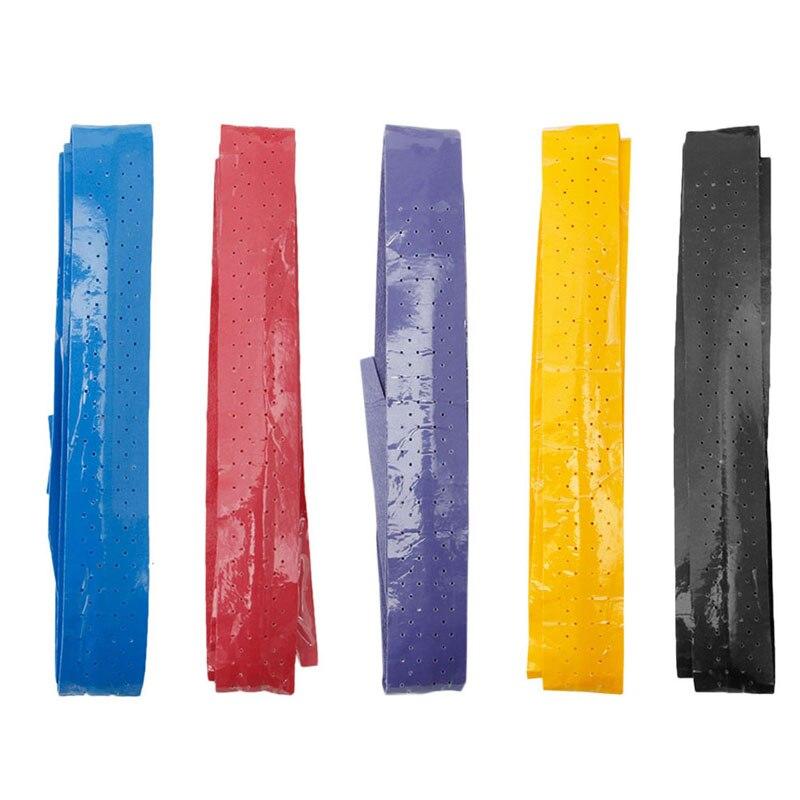 Нескользящие ракетки за сцепление roll Теннис Бадминтон Сквош ручка Клейкие ленты 5 цветов