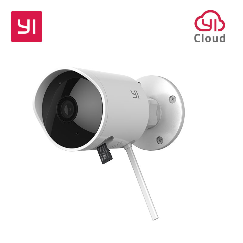 YI Outdoor Camera 1080P IP Security Cam Wireless IP Resolution Waterproof Night Vision Security Surveillance System Cloud Global
