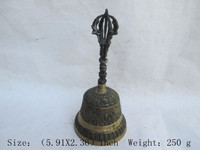 Copper Brass Home Metal Crafts The ancient classical old BRASS bell bell buddhist weapons