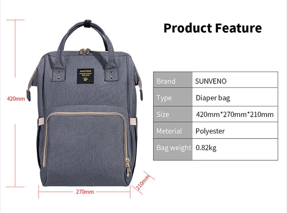 HTB1l0XEd8Cw3KVjSZR0q6zcUpXak SUNVENO Fashion Mummy Maternity Diaper Bag Large Nursing Bag Travel Backpack Designer Stroller Baby Bag Baby Care Nappy Backpack
