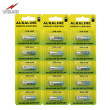 20x Wama 27A 12V Primary Dry Alkaline Battery A23 E23A MN21 GP23A Car Parking Lock Alarm Remote Watch Toys Calculator Cells