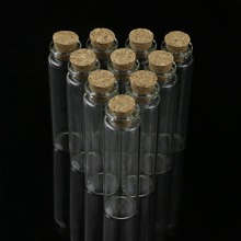 Flacon vide en verre avec bouchon en liège transparent, petit flacon de Message, 20ml, 22x80mm, flacons N24 livraison directe