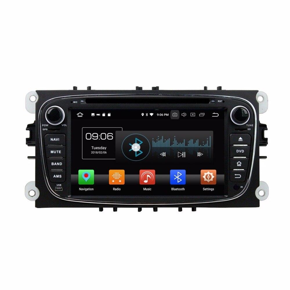 Android 8.0 Octa Core 7 Car DVD Multimedia GPS for Ford Mondeo Tourneo Transit S-max Radio 4GB RAM Bluetooth WIFI USB 32GB ROM