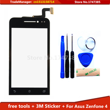tools + 3M adhesive Original Touch Screen For Asus Zenfone 4 A400CG Glass Capacitive sensor touch screen digitizer Free Shipping