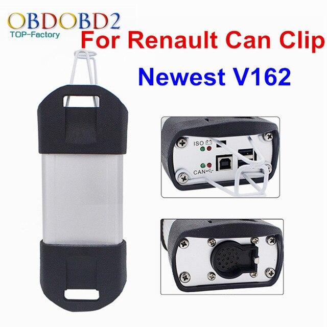 Лучшее Качество Для Renault МОЖЕТ Закрепить Последние V162 Профессиональные Автомобиля Диагностический Интерфейс Сканера Для Renault Клип Мульти Языки