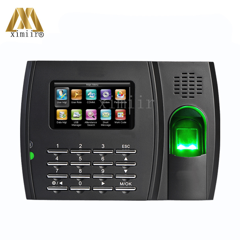 Fingerprint Sensor Time Attendance Finger Print Recognition Clock With Both 125Khz Rfid And 13.56Mhz Mf Electronic Time Recoder