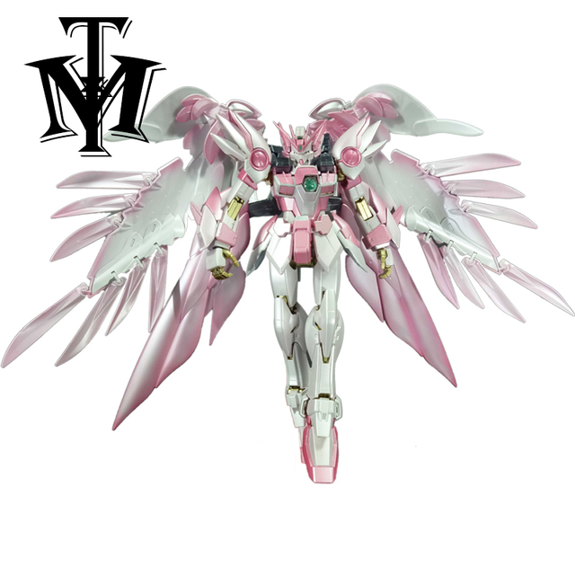 Anime Japan Mobile Suit MG 1/100 pink Wing Gundam Zero Endless Waltz Fighter Assembled Robot Orignal Box Action Figure kids toy 2
