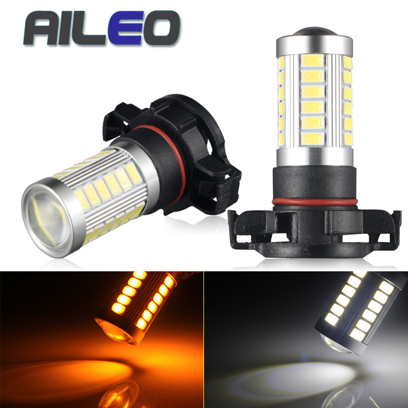 AILEO Car Fog Light PSX24W H16 PWY24W PSY24W S19W Car Light Bulbs Led Lamp 5730/5630 SMD Fog Driving Lamp Lighting 3000K 6000K