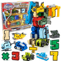 Assembleren Educatief N symbool Transformeren fit Robots Team Vervormd Actiefiguren Transformatie Vliegtuig Auto baby Brinquedos