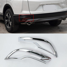 Car Accessories Exterior Decoration ABS Chrome Rear Fog Lamp Light Cover Trims For Honda CRV 2018 Styling accessories!