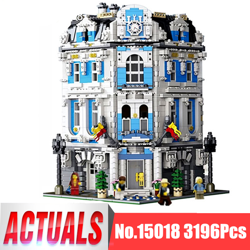 Lepin City Street MOC Figures 15018 3196Pcs The Sunshine Hotel Model Building Kits Blocks Bricks Educational Toys For Children