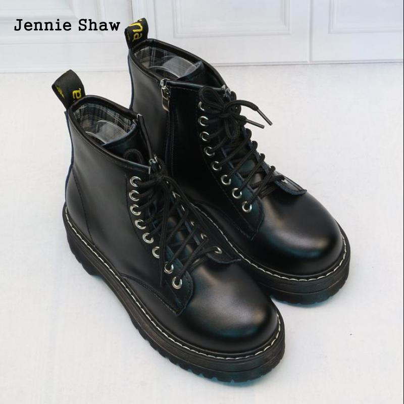 Image 5 - Womens Ankle Boots Black Medium Heel Lace Up Bottes Sexy-in Ankle Boots from Shoes