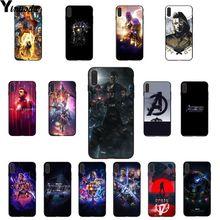 Yinuoda Marvel Avengers Endgame Black Soft Shell Phone Cover for iPhone 5 5Sx 6 7 7plus 8 8Plus X XS MAX XR