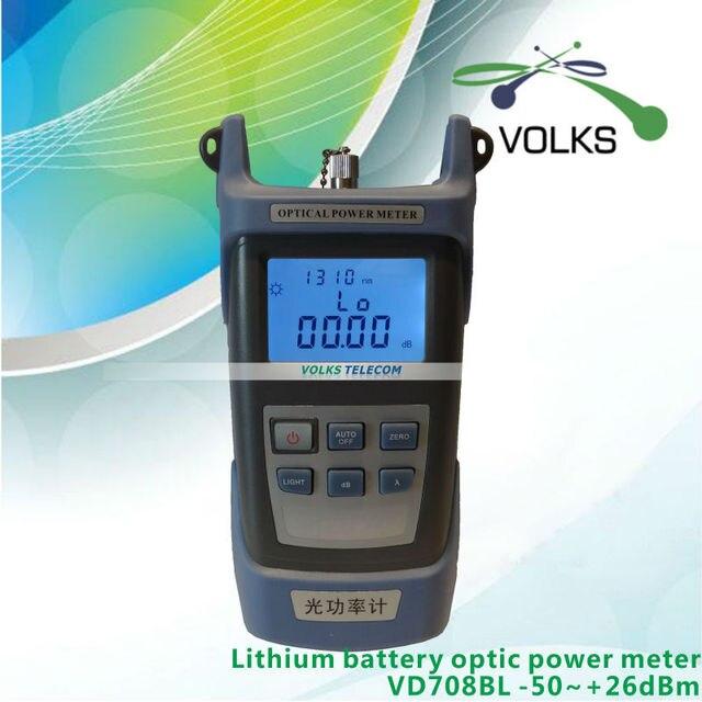 Fttx волоконно-оптический измеритель мощности VD708BL - 50 ~ + 26dBm с литиевой батареей