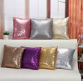 1 Pc Solid Color Glitter Sequins Throw Pillow Case Home Car Decor Waist Cushion Cover Hot 2016