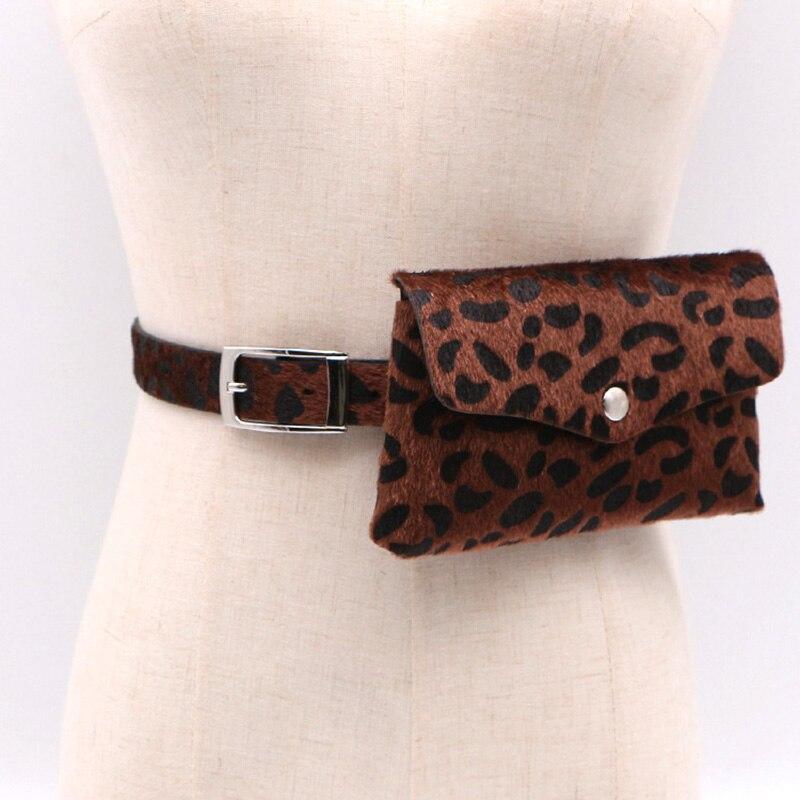 AUAU-Women Waist Bag Fanny Pack Messenger Bag Leopard Print Travel Vintage Waist Pack Mobile Pouch Messenger Belt Chest Bags