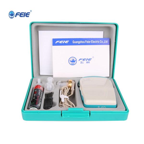 2017 produtos de boa qualidade máquina de bolso bolso audiência deaf ear amplificador s-6d free grátis