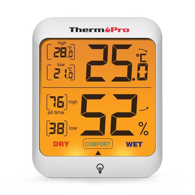 ThermoPro TP53 Igrometro Termometro Umidità Indicatore visivo Termometro Digital
