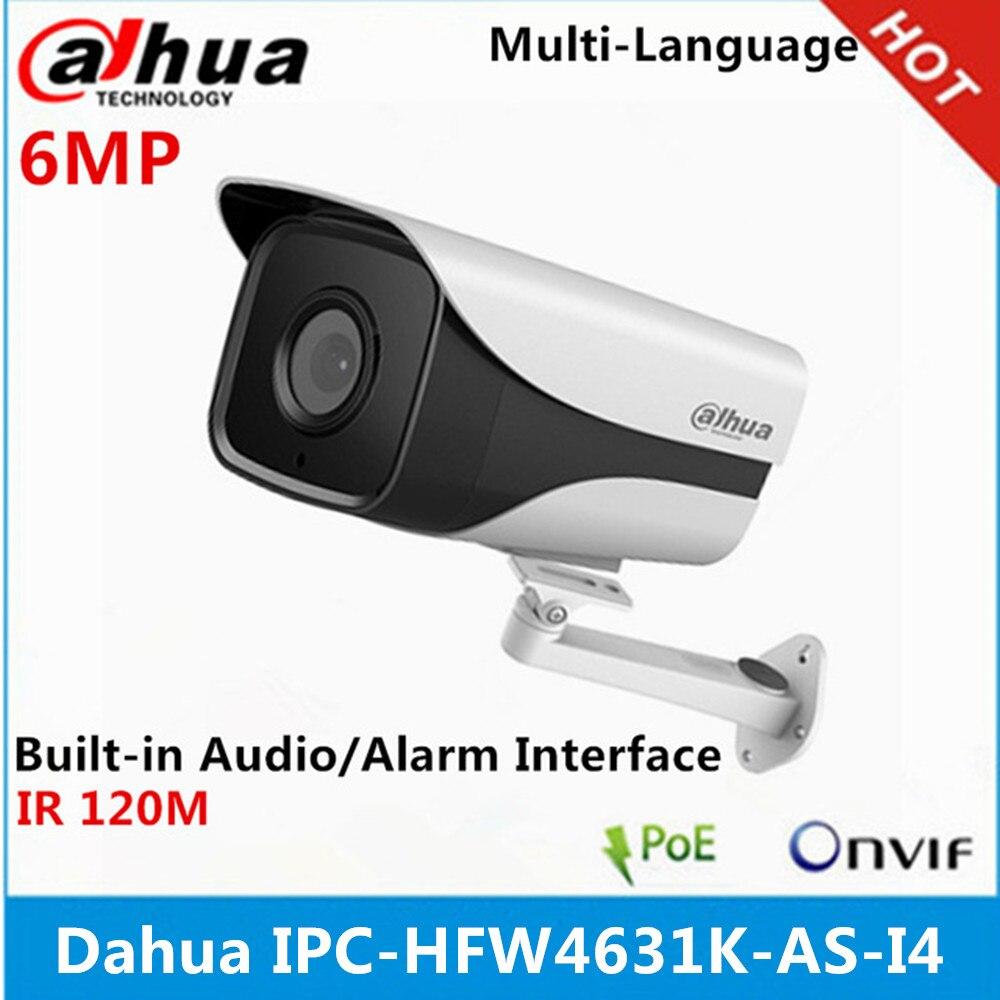 Dahua 6Mp IP Camera IPC HFW4631K AS I4 IP67 built in 4 Leds IR120M with Audio