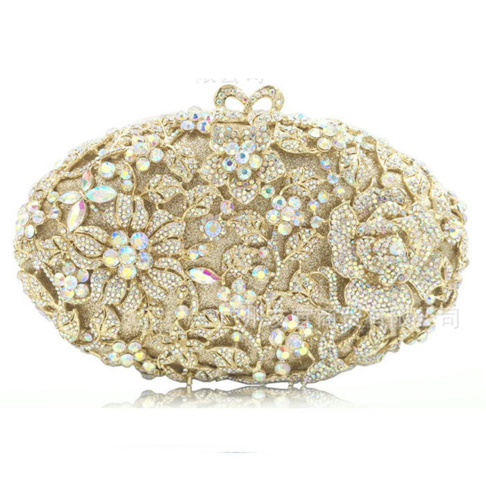 women gold full Crystal Evening Bag With Chain champagne Diamond Women Handbags Party Purse Bride Wedding Bridesmaid Clutch Bags gold woman evening bag women diamond rhinestone clutch crystal chain shoulder small purse gold wedding purse party evening bags page 8