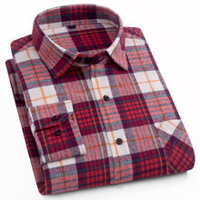 Aoliwen Mannen Mode Plaid Lange Mouw 100% Katoen Comfortabele Multi color Zomer Nieuwe Mode Mannen Shirt Lage prijs M 5XL