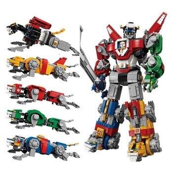 2600Pcs Ideas Voltron Legendary Lion Robots Transformation Universe 16057 Model Building Blocks  Bricks Compatible With