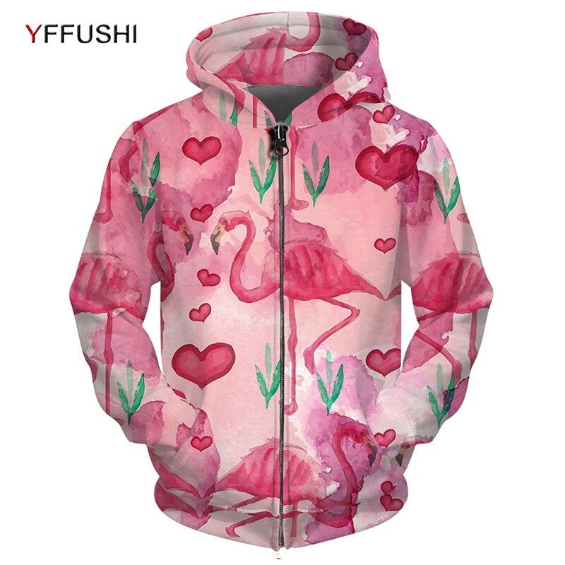 YFFUSHI Flamingo Jas voor Mannen Mode Schilderij Gedrukt Mannen Anime Jassen Jas Pocket Outwears Hip Hop Rits Hoodies-in Jassen van Mannenkleding op AliExpress - 11.11_Dubbel 11Vrijgezellendag 1