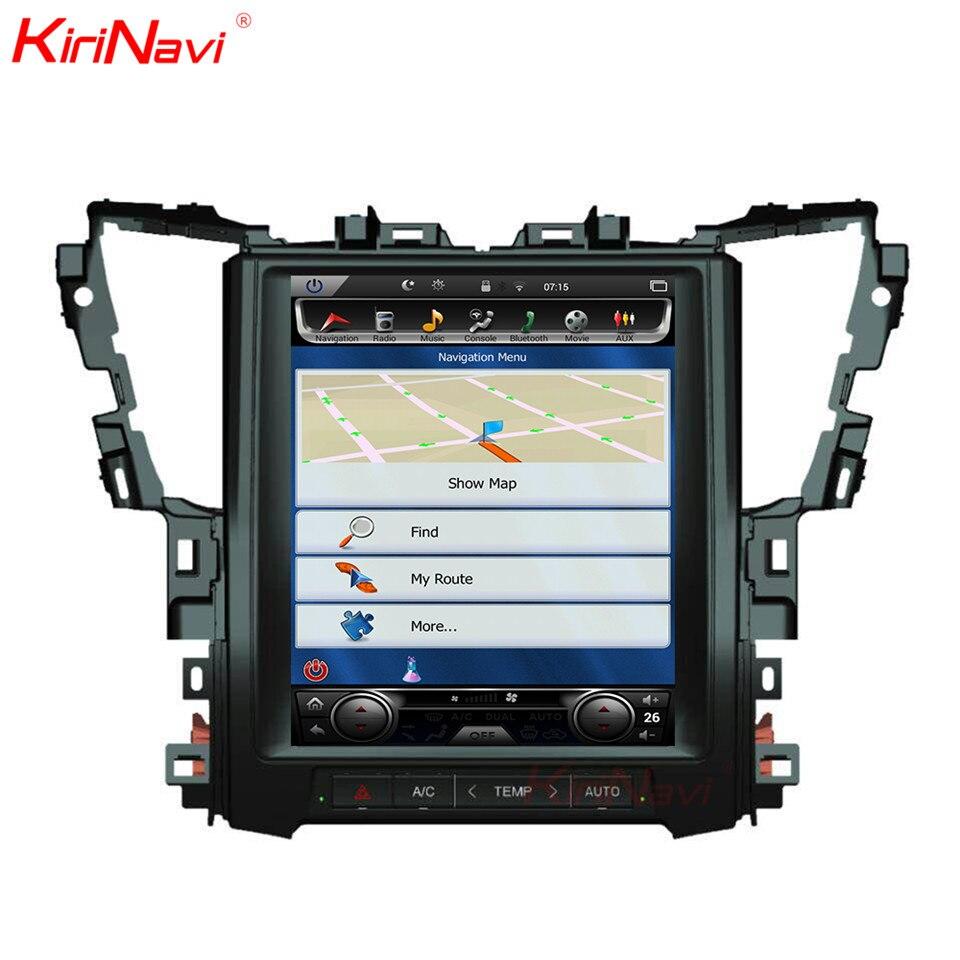 KiriNavi para Toyota Alphard 12,1 Pantalla táctil Android 7,1 2 GB RAM 32 GB ROM GPS de navegación de la Radio del coche vídeo Bluetooth 2015-2018