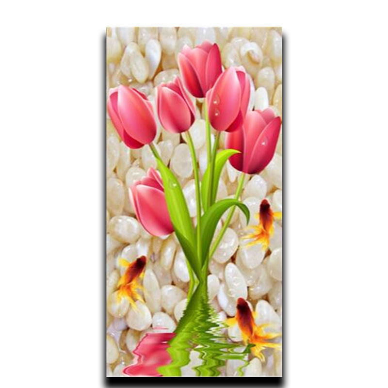 Diamond flowers diamond embroidery diy paint 3d square mosaic crafts bead full pebbles
