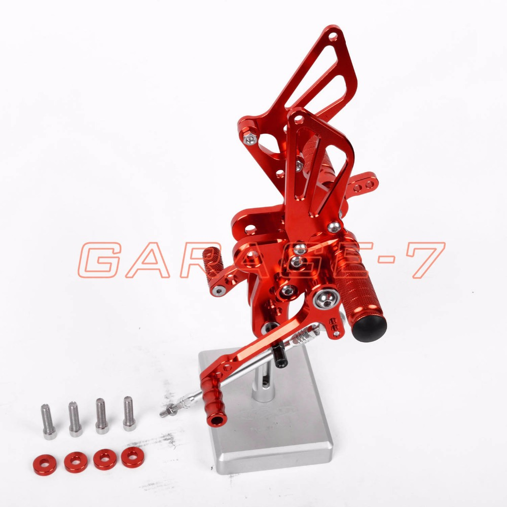 Rearsets Foot Rests Rear Set For SUZUKI GSXR 1300 Hayabusa 1999-2007 Hayabusa  Motorcycle Foot Pegs A New  Red CNC Adjustable