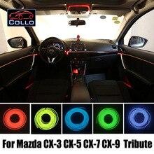 Для Mazda CX-3 CX-5 CX-7 CX-9/Tribute/AZ-Offroad/салона романтическую атмосферу лампа/9 м el Провода холодный свет линия/DIY