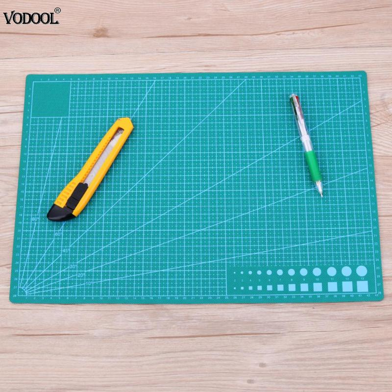 A3 PVC Cutting Mat Double-sided Cutting Pad Patchwork Sewing Tools Cloth Making Cutting Board Self-healing  Manual DIY Cut Tool